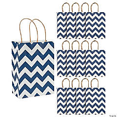 Blue Chevron Gift Bags