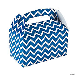Blue Chevron Treat Boxes