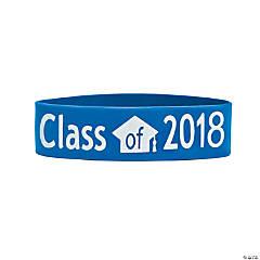 Blue Class of 2018 Big Band Bracelets