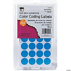 Blue Color Coding Labels, Pack of 1000, Set of 12 Packs