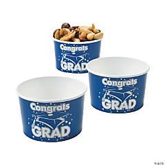 Blue Congrats Grad Snack Bowls