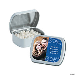 Blue Custom Photo Mint Tins
