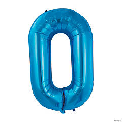 Blue Deco Link Mylar Balloon