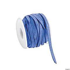 Blue Faux Leather Cording