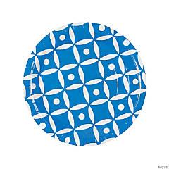Blue Geometric Dinner Paper Plates