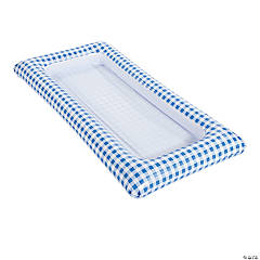 Blue Gingham Inflatable Buffet Cooler