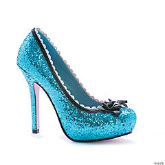 Blue Glitter Princess Shoes