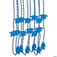 Blue Graduation Bead Necklaces