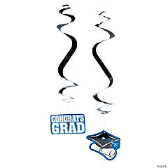 Blue Graduation Hanging Swirls Mega Pack