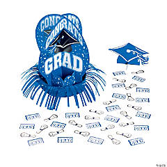 Blue Graduation Table Decorating Kit