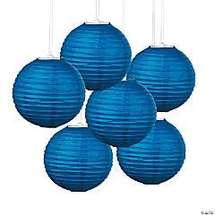 Blue Hanging Paper Lanterns