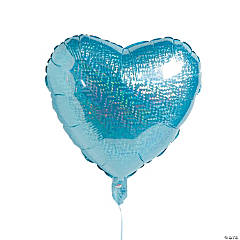 Blue Heart Mylar Balloon
