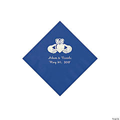 Blue Irish Personalized Napkins - Beverage