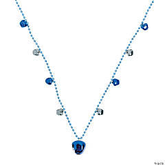 Blue Jingle Bell Beaded Necklaces