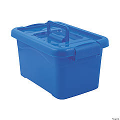 Blue Large Locking Storage Bins with Lids