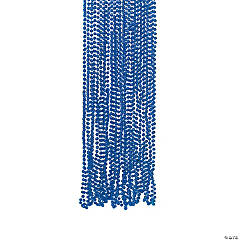 Blue Metallic Bead Necklaces