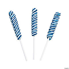 Blue Mini Twisty Lollipops