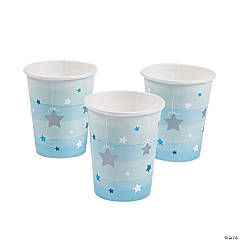 Blue One Little Star Paper Cups