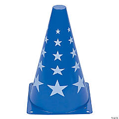 Blue Patriotic Traffic Cone