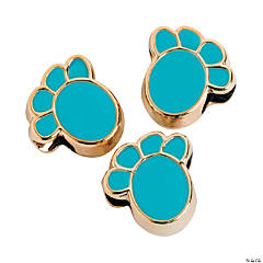 Blue Paw Beads-13mm