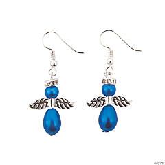 Blue Pearl Angel Earrings Craft Kit