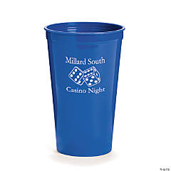 Blue Personalized Casino Tumblers