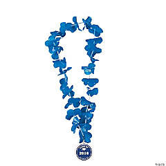 Blue Personalized Graduation Leis