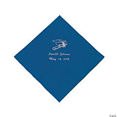 Blue Personalized Graduation Luncheon Napkins