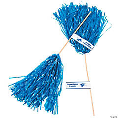 Blue Personalized Graduation Spirit Poms