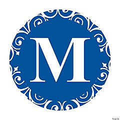 Blue Personalized Monogram Wedding Favor Stickers