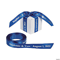 Blue Personalized Ribbon - 5/8