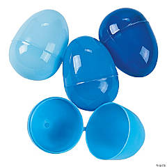 Blue Plastic Easter Eggs - 144 Pc.