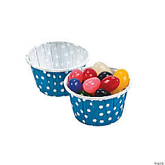 Blue Polka Dot Snack Cups