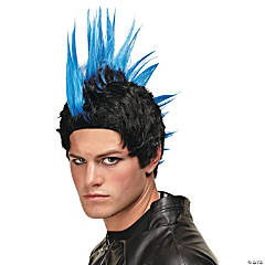 Blue Punk Rocker Wig