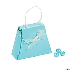 Blue Purse Wedding Favor Boxes