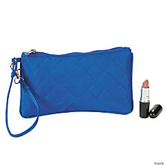 Blue Quilted Wristlet Purse
