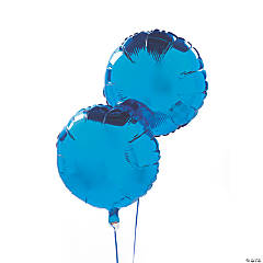 Blue Round Mylar Balloon Set