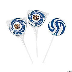 Blue School Spirit Custom Photo Swirl Pops