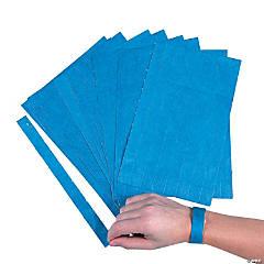 Blue Self-Adhesive Wristbands