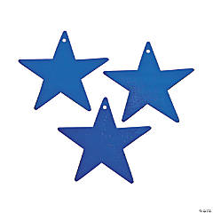 Blue Small Metallic Stars