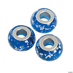 Blue Sparkle Large Hole Beads