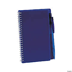 Blue Spiral Notebooks with Pens