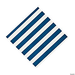 Blue Striped Beverage Napkins