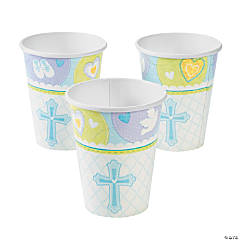 Blue Sweet Christening Cups