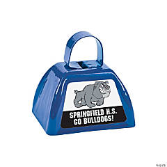 Blue Team Spirit Custom Photo Cowbells
