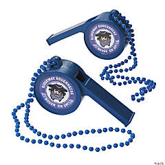 Blue Team Spirit Custom Photo Giant Whistles