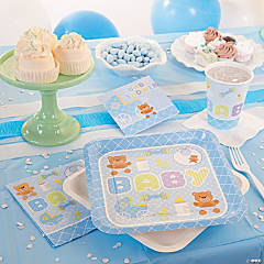 Blue Teddy Bear Baby Shower Party Supplies