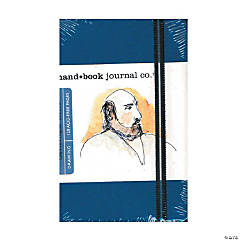 Blue Travelogue Portrait Drawing Journal