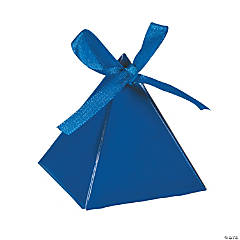 Blue Triangle Favor Boxes