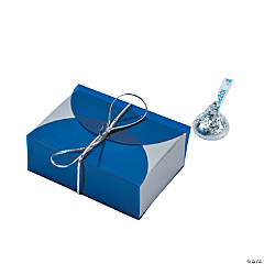 Blue Vellum Favor Boxes